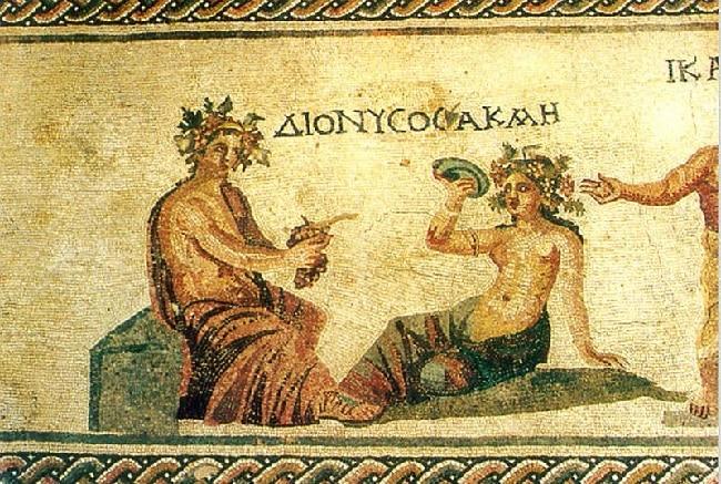 פסיפס של דיוניסוס אל היין היווני בפאפוס