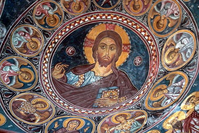 ציור קיר בכנסיית כנסיית פנגיה פורוויטיסה אסינו