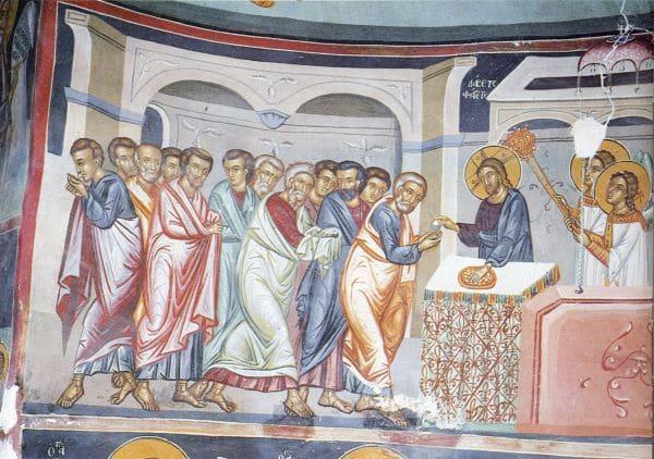 פרט מתוך ציור הקיר בכנסיית METAMORFOSIS SOTIROS