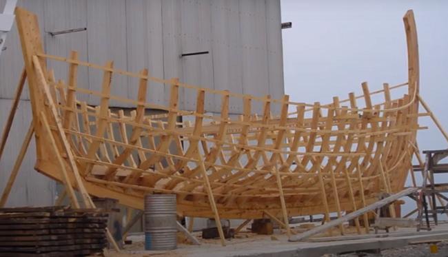 עבודות השיחזור של הספינה העתיקה מקיריניה