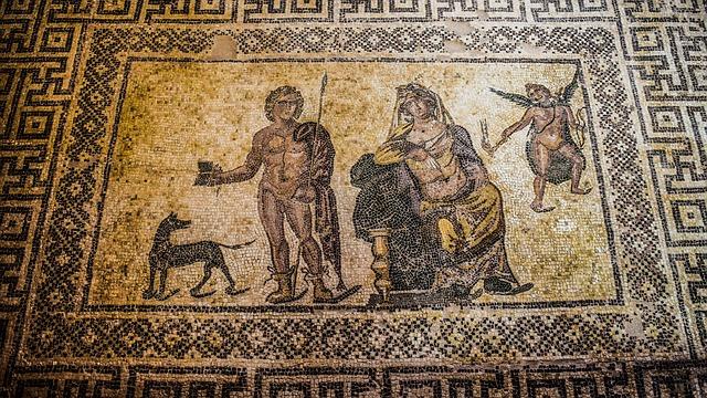 אחת מרצפות הפסיפס באתר הארכיאולוגי של פאפוס