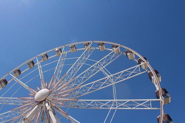גלגל ענק בלונה פארק של פאפוס