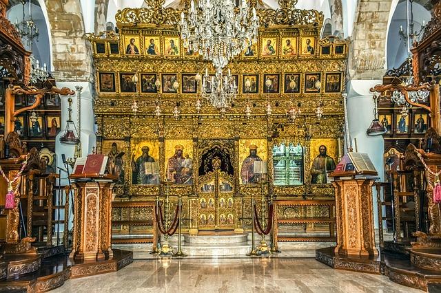 פנים הכנסייה במנזר אומודוס